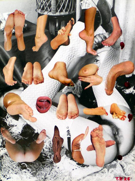 Sir Tijn Po Collage, 'Peda-philia (The Love of Feet)' - A Visual Poem in Meter - T.P. 28